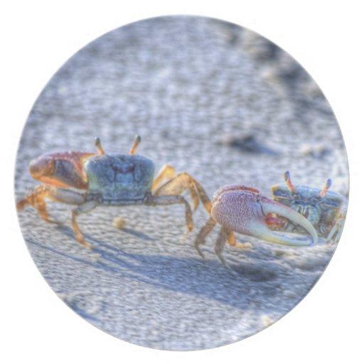 Fiddler Crab Plates