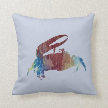 Beach Themed Fiddler Crab Throw Pillow