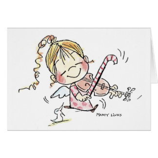 Fiddler del navidad CH-008 Tarjeta De Felicitación