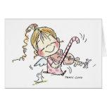Fiddler del navidad CH-008 Tarjetas