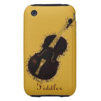 Fiddler del violinista del instrumento musical del tough iPhone 3 funda