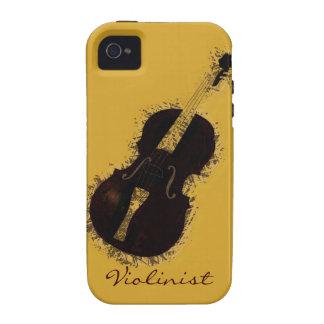 Fiddler del violinista del instrumento musical del iPhone 4 carcasa