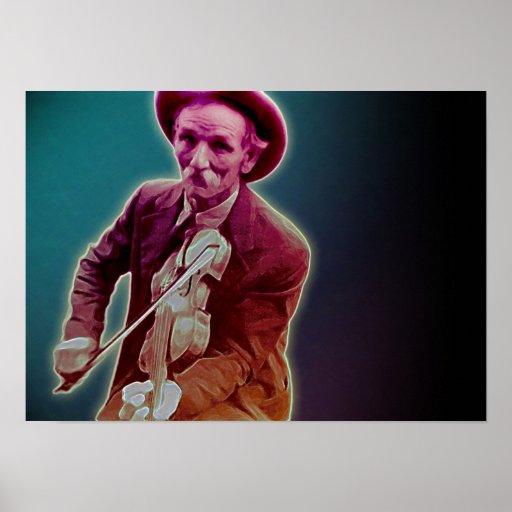 Fiddler en la oscuridad póster