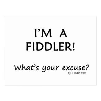 Fiddler Excuse Postcard