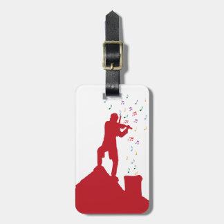 Fiddler  luggage tag