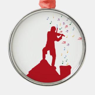 Fiddler  metal ornament