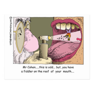 Fiddler On Roof Funny Dentistry Gifts & Tees Postcard