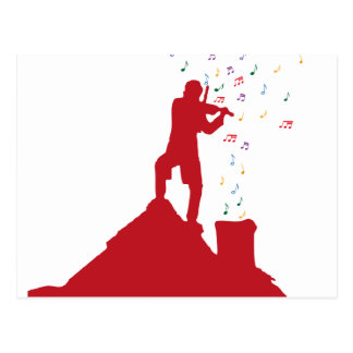 Fiddler  postcard