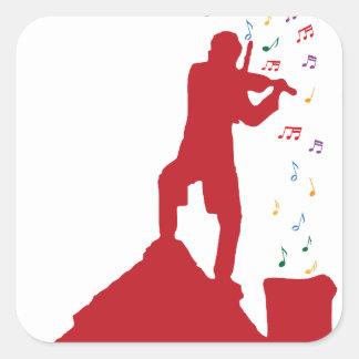 Fiddler Square Sticker