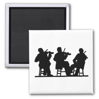 Fiddlers, Fiddle 2 Inch Square Magnet