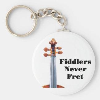 Fiddlers Never Fret Key Ring Keychain