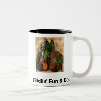 Fiddles, Fiddlin' Fun & Co. Two-Tone Coffee Mug