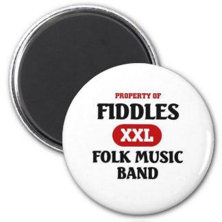 Fiddles Folk Music band Refrigerator Magnet