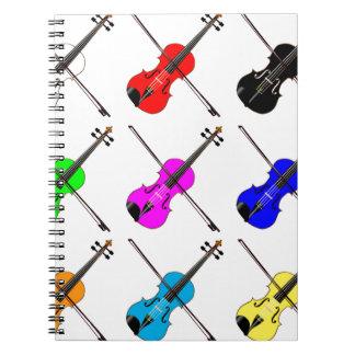 Fiddles Spiral Notebook