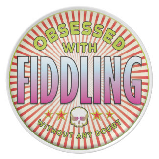 Fiddling Obsessed R Party Plates