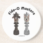 Fide-O Masters Chess Dogs Beverage Coasters