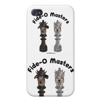 Fide-O Masters Chess Dogs Case For iPhone 4