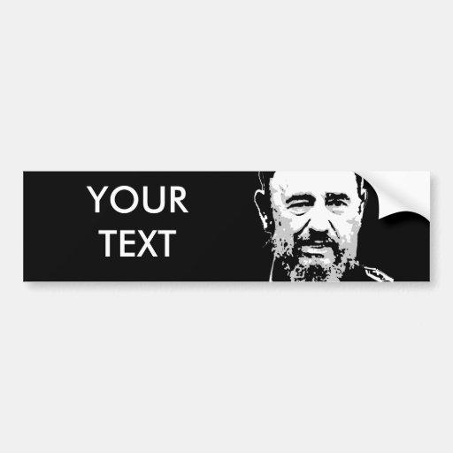 Fidel Castro Car Bumper Sticker