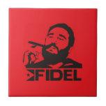 Fidel Castro Ceramic Tile