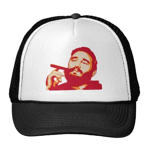 Fidel Castro con el gorra del retrato del cigarro