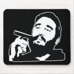 Fidel Castro con el retrato Mousepad del cigarro