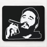 Fidel Castro con el retrato Mousepad del cigarro Tapetes De Ratón
