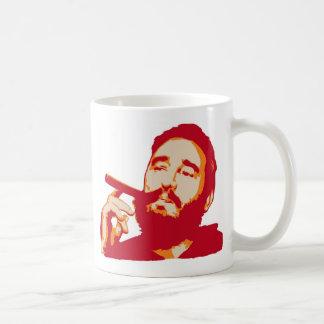 Fidel Castro con la taza del retrato del cigarro