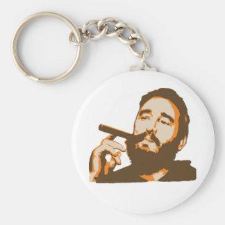 Fidel Castro con llavero del retrato del cigarro