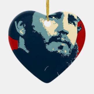 Fidel Castro - Cuban Revolution President of Cuba Ceramic Ornament