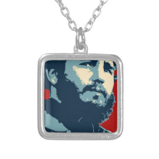 Fidel Castro - Cuban Revolution President of Cuba Silver Plated Necklace
