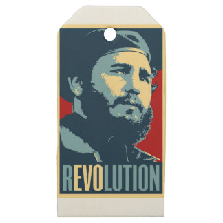 Fidel Castro - Cuban Revolution President of Cuba Wooden Gift Tags
