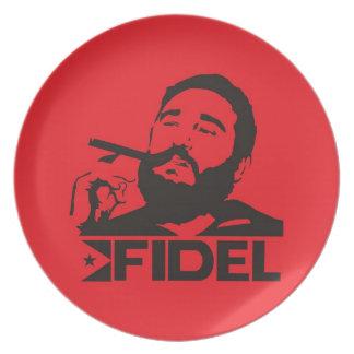 Fidel Castro Dinner Plate