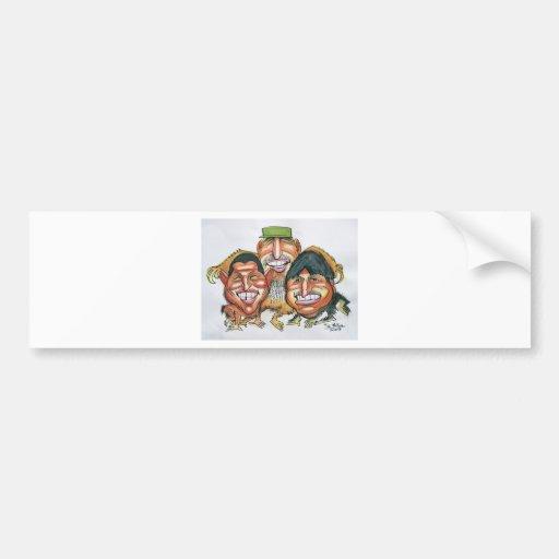 fidel castro,hugo chavez, evo morales bumper stickers