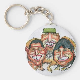 Fidel Castro, Hugo Chavez, morales del evo Llavero Redondo Tipo Pin