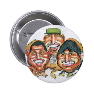 Fidel Castro, Hugo Chavez, morales del evo Pin Redondo De 2 Pulgadas