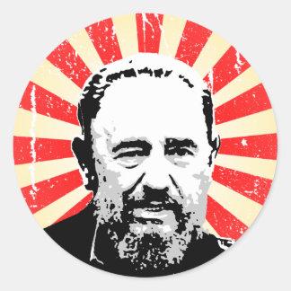 Fidel Castro Pegatina Redonda