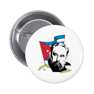Fidel Castro Pin Redondo De 2 Pulgadas