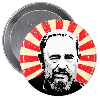 Fidel Castro Pin Redondo De 4 Pulgadas