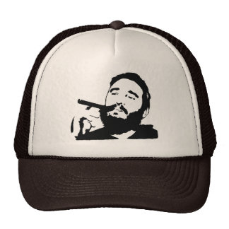 Fidel Castro with Cigar Portrait Hat