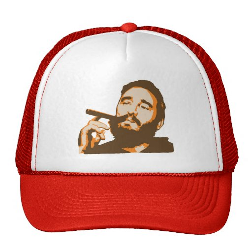 Fidel Castro with Cigar Portrait Hat