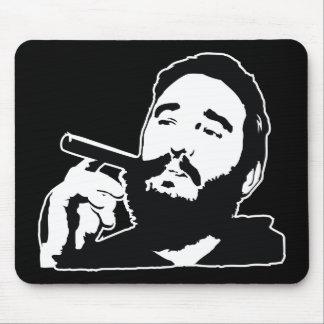 Fidel Castro with Cigar Portrait Mousepad
