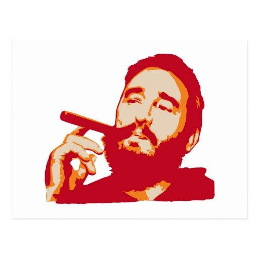 Fidel Castro with Cigar Portrait Postcard