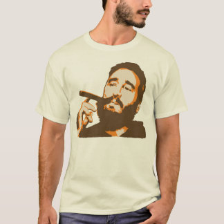 Fidel Castro with Cigar Portrait T-Shirt
