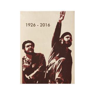 Fidel Castro Wood Poster