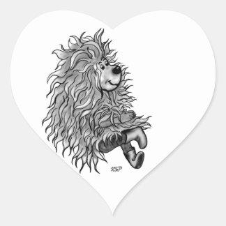 Fidel The Little Forest Goblin Heart Sticker