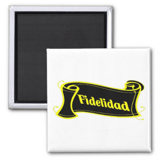 Fidelidad - loyalty writing volume kind Deco Fanta 2 Inch Square Magnet