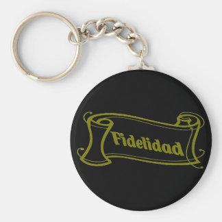 Fidelidad - loyalty writing volume kind Deco Fanta Basic Round Button Keychain