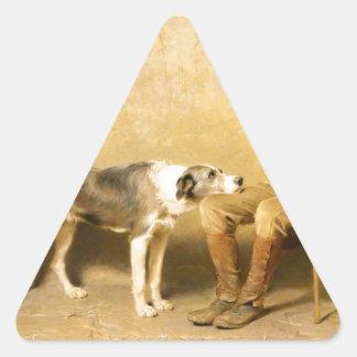 Fidelity by Briton Riviere Triangle Sticker