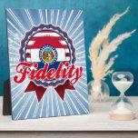 Fidelity, MO Plaque
