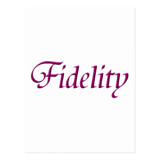 """Fidelity"" Postcard"